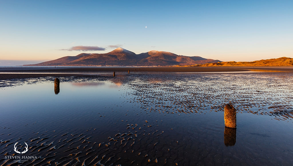 landscape photo of the mourne mountains from murlough bay by steven hanna