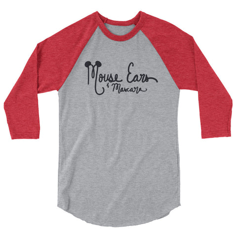 Mouse Ears and Mascara 3/4 sleeve raglan shirt