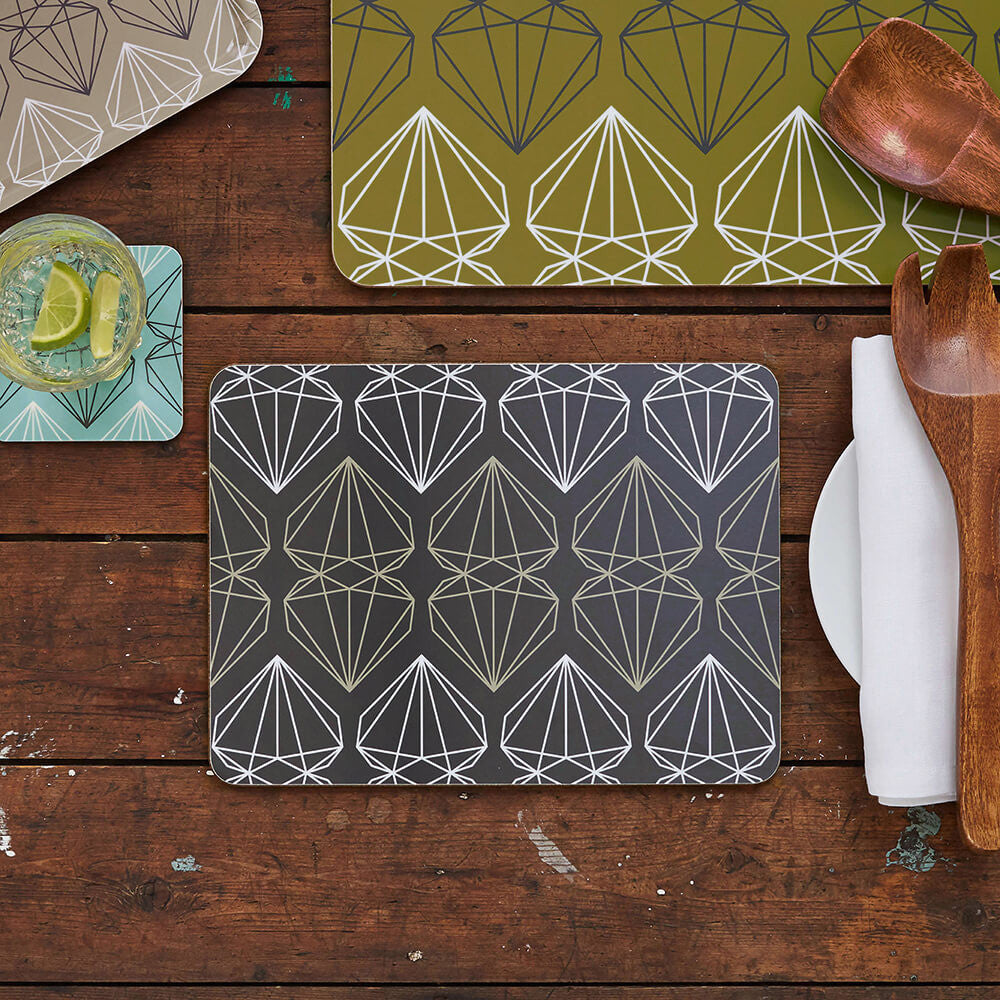 iconic collection placemats slate grey cordello home