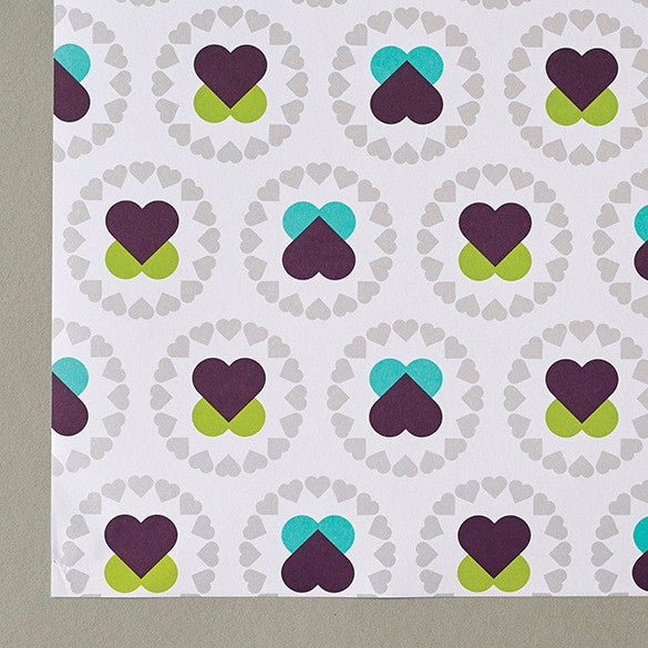 Hearts flowers gift wrap cordello home hearts flowers gift wrap mightylinksfo