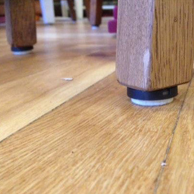 100 screw in floor protectors for Vinyl and Wood Floors