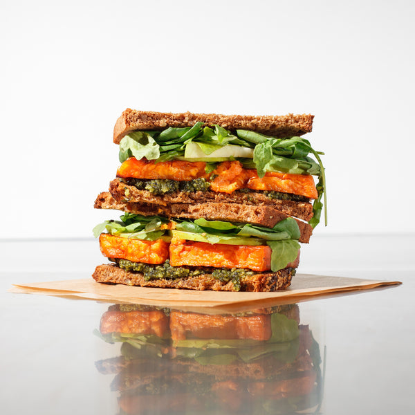 Sweet Potato & Pumpkin Seed Pesto Sandwich