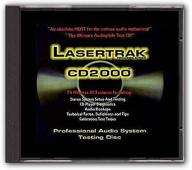 Lasertrak CD2000 Professional Audio System Test CD