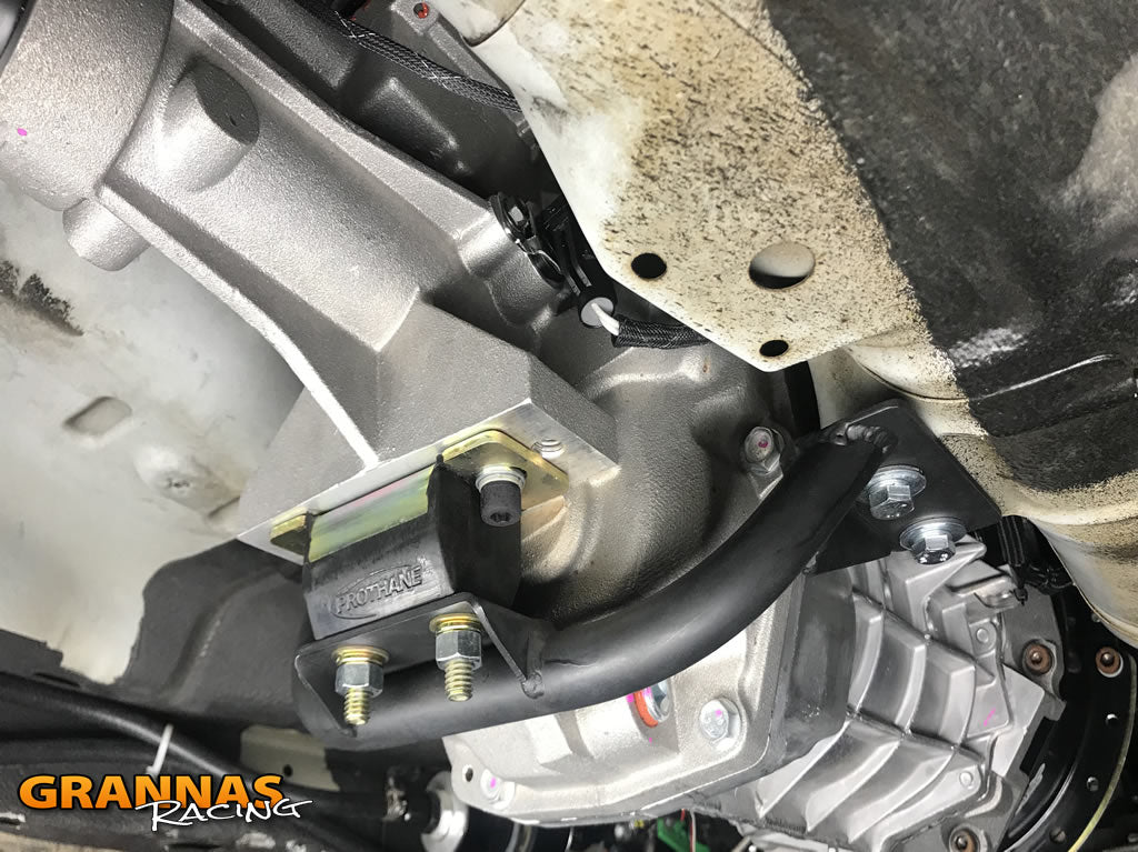Bolt in T56 Magnum swap kit for the Nissan 240SX S14 Chassis with 2JZ swap