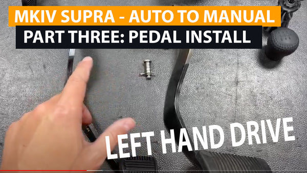 MKIV SUPRA Auto to Manual Swap (version 2) - Part 3 - Clutch Pedal and brake pedal install