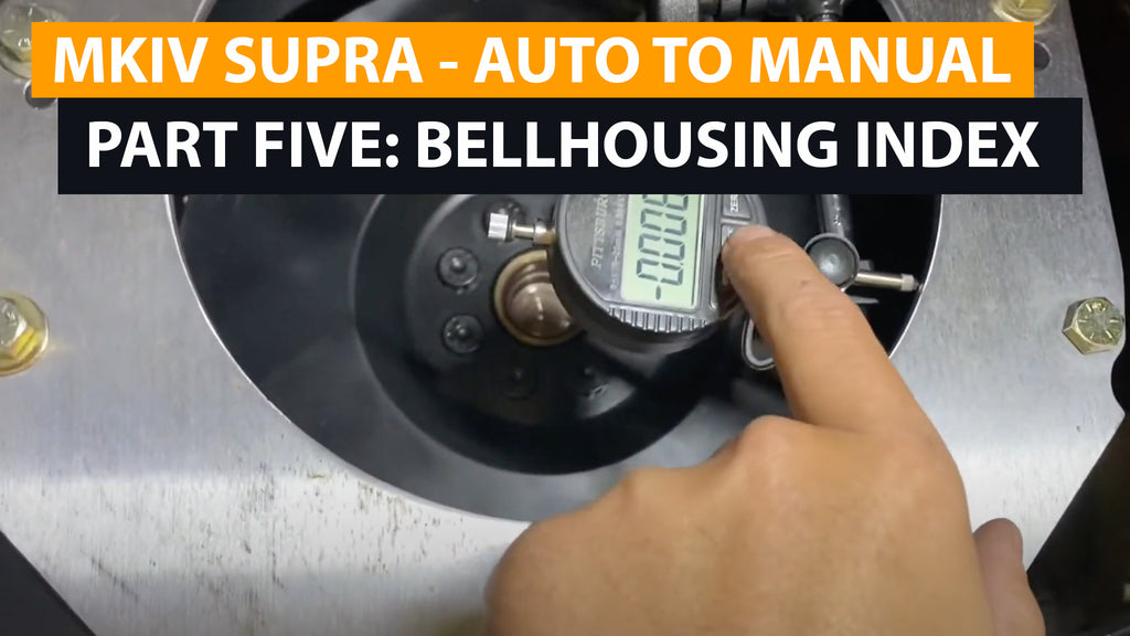 MKIV SUPRA Auto to Manual Swap (version 2) - Part 5 - Index Bellhousing, Runout check