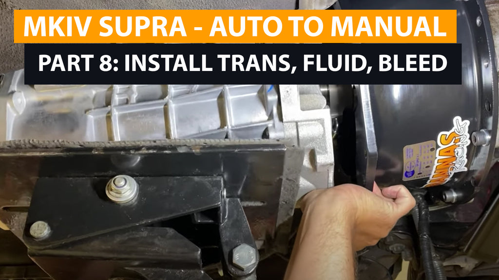 Supra Auto-to-Manual Conversion - Part Eight - Transmission install - clutch bleeding