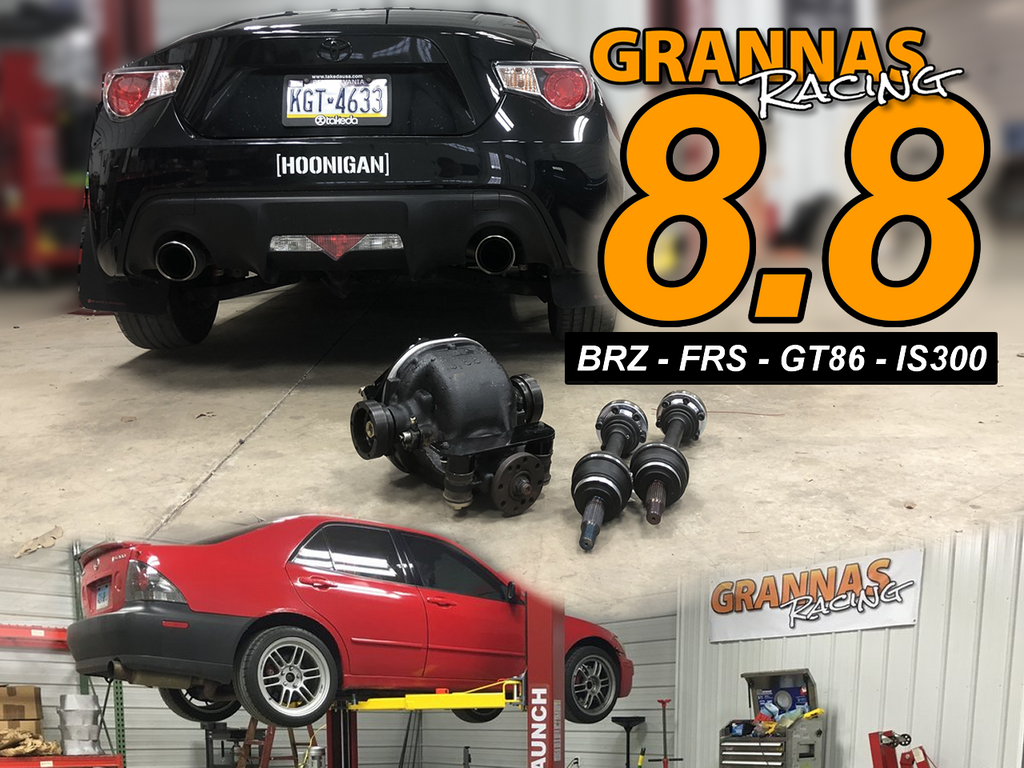 Grannas Racing 8.8 swap kit Lexus IS300 IS200 Altezza Subaru BRZ Scion FRS Toyota GT86