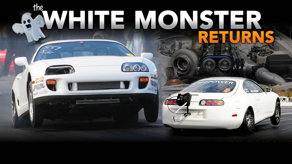 White monster 6-speed supra rebuild part one Grannas Racing V160 t56 magnum 2jz