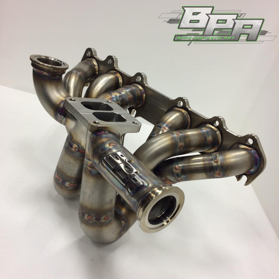 BP Autosports 2JZ-GTE Gen-R T4 Twin Scroll Billet Exhaust Manifold