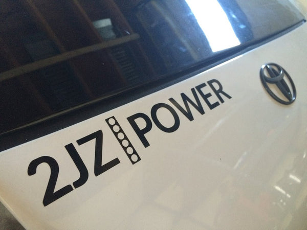 2JZPOWER bumper sticker