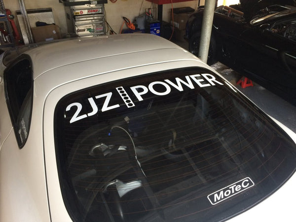 2JZPOWER rear window sticker
