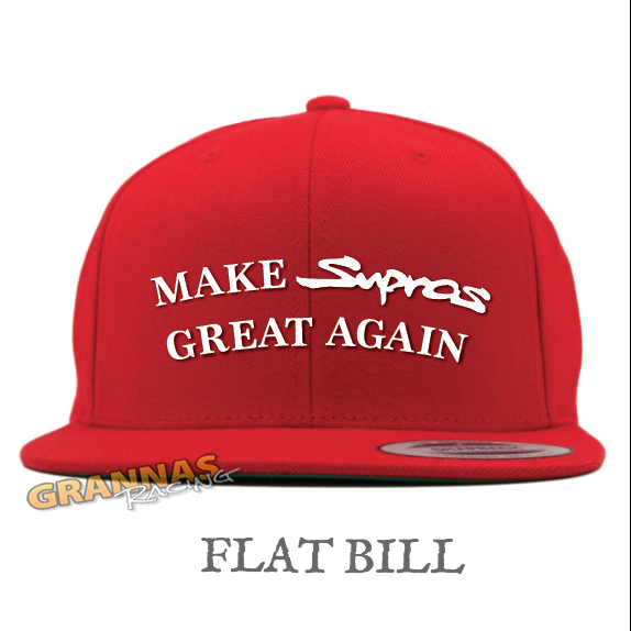 flat bill MSGA hat notmysupra supra mkiv mkv toyota make supras great again