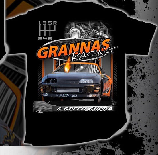 Orange 6-Speed Supra T-Shirt - Grannas Racing