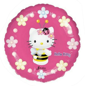 "Hello Kitty Bee Hot Pink & White Flowers 18"" Party Balloon"