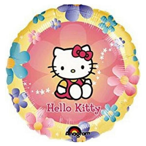 "Hello Kitty Pink Yellow Pastel Flowers 18"" Party Balloon"