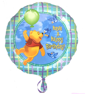 "Floating Winnie The Pooh & Birds Happy Birthday 18"" Party Balloon"