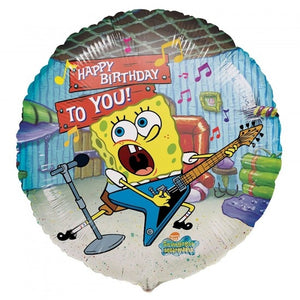 "Spongebob Squarepants Guitar Happy Birthday 18"" Party Balloon"
