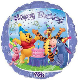 "Winnie The Pooh Birthday 18"" Purple Party Balloon"