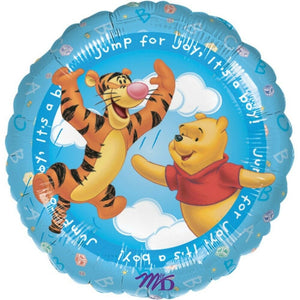 "Winnie The Pooh It's A Boy 18"" New Baby Blue Party Balloon"