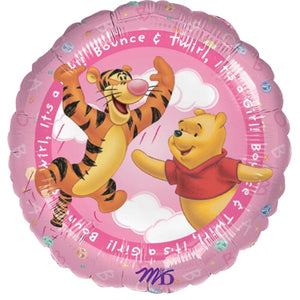 "Winnie The Pooh It's A Girl 18"" New Baby Pink Party Balloon"