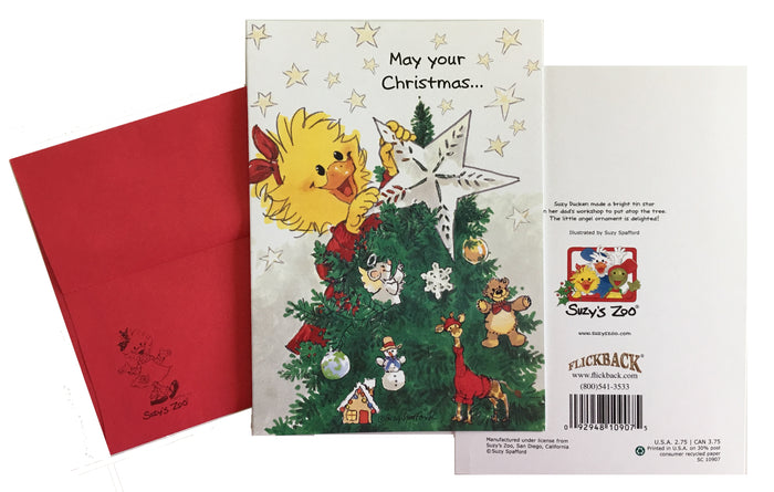"Suzy's Zoo Suzy's Christmas Star Holiday Greeting Card 5"" x 7"""
