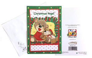"Suzy's Zoo Willie Bear's Christmas Hug Holiday Greeting Card 5"" x 7"""