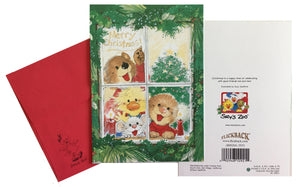 "Suzy's Zoo Christmas Window Scene Holiday Greeting Card 5"" x 7"""