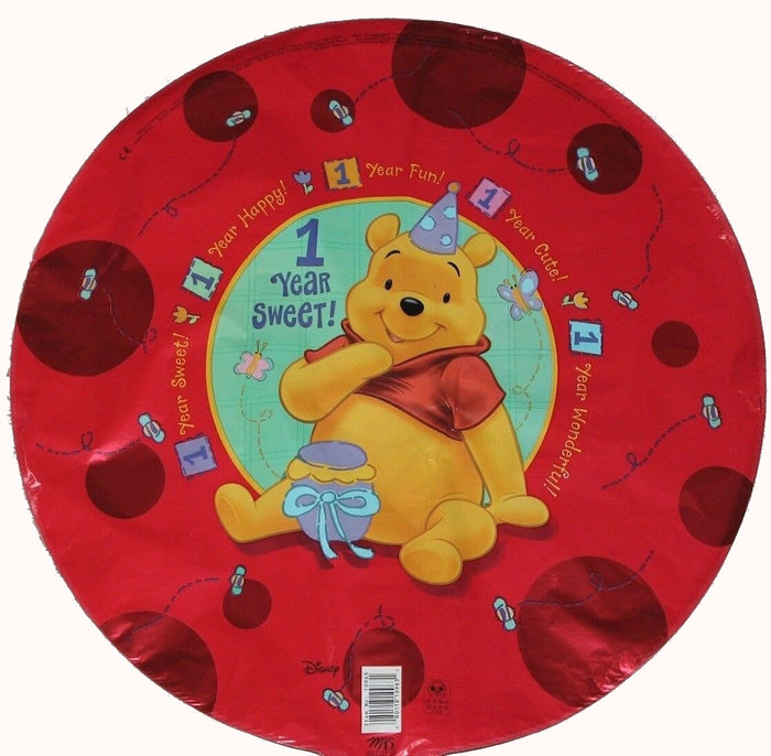 "Winnie The Pooh Sweet Baby's 1st Birthday 18"" Red Party Balloon"