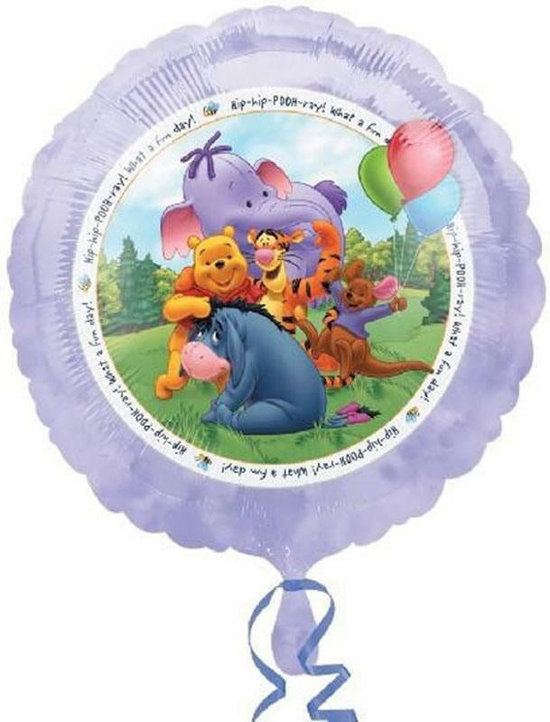 "Winnie The Pooh & Friends Hip-Hip-Pooh-ray! Happy Birthday 18"" Purple Party Balloon"