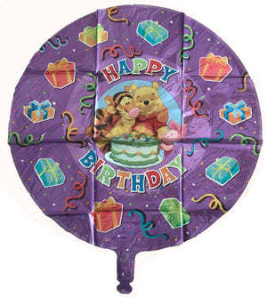 "Winnie The Pooh Purple Happy Birthday Prismatic Drop-A-Line Jumbo 54"" Party Balloon"