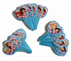 Disney Princesses Plastic Party Cupcake Deco Picks 12 CT