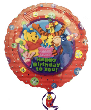"Winnie The Pooh Happy Birthday to you! 18"" Party Balloon"