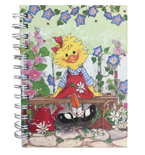 "Suzy's Zoo Suzy's Garden Corner Hardcover Spiral Memo Note Book Journal 5"" x 7"""