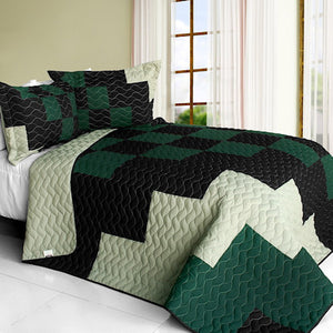 Minecraft Forest Teen Boy Bedding Full/Queen Green Black Bedspread