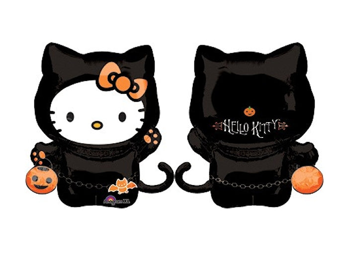 "Hello Kitty Black Cat Halloween Jumbo Super-Shape 30"" Party Balloon"
