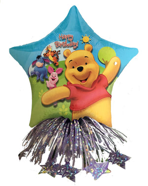 Winnie The Pooh Happy Birthday Party Balloon & Weight Centerpiece 14""