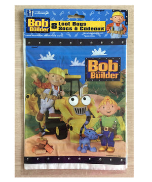 Classic Bob The Builder Blue Party Loot Plastic Gift Bag 8 CT
