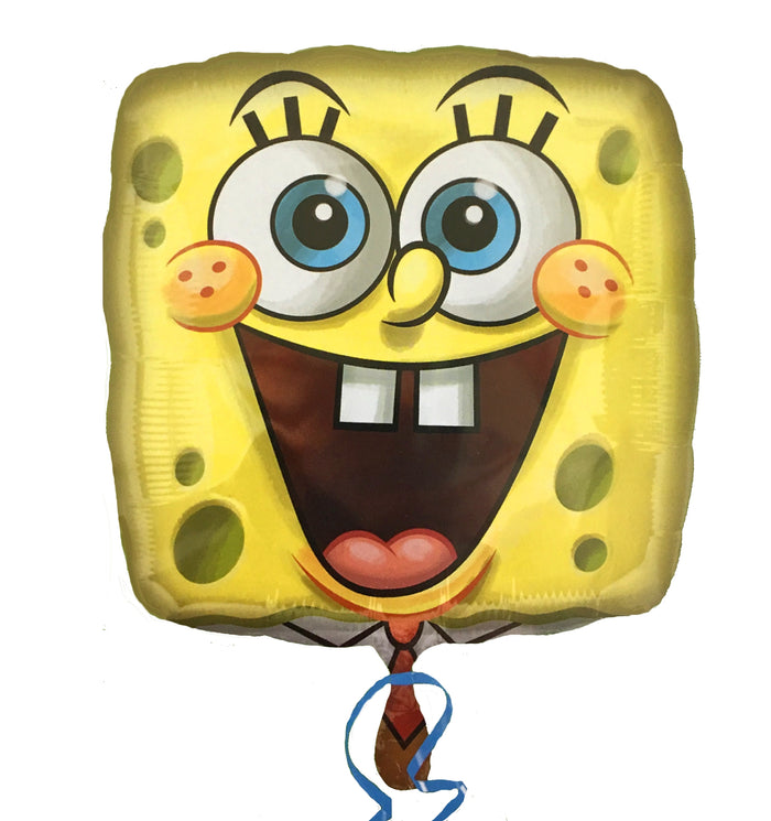 "Spongebob Squarepants Yellow Square Face 18"" Party Balloon"