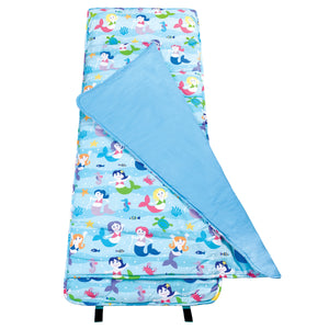Mermaids Kids Blue Nap Mat - Child/Toddler Girl Sleeping Bag