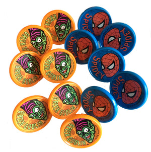 Spiderman & Green Goblin Cake Toppers or Cupcake Party Rings 12 CT