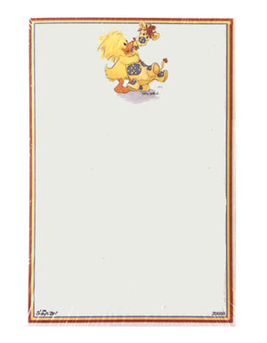 "Little Suzy's Zoo Witzy Duck & Patches Giraffe Memo Note Pad 4.5"" x 6 5/8"""