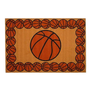 "Basketball Sports Rug Small 19"" x 29"" or Large 39"" x 58"""