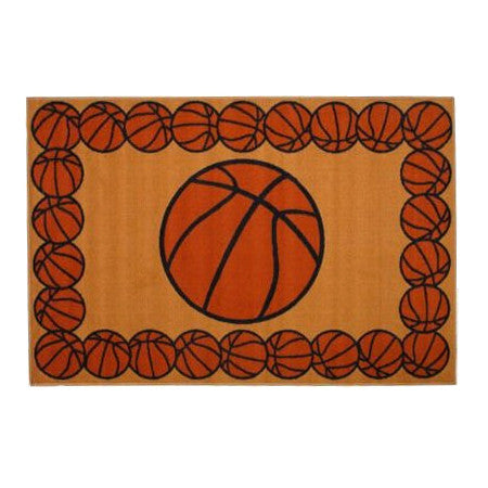 "Basketball Sports Rug 19"" x 29"" or 39"" x 58"""