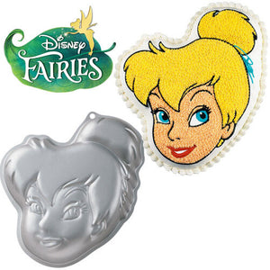 "Tinkerbell  Aluminum Cake Pan 13"" with Instructions"