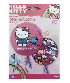 "Hello Kitty & Mouse Pink 18"" Birthday Party Balloon"