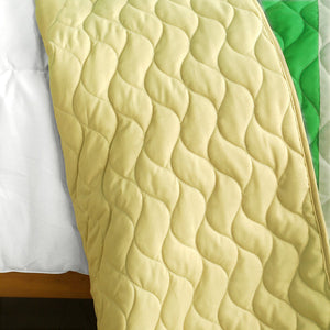 Green Soccer Theme Striped Bedding Girl or Boy Full/Queen Quilt Set - Back
