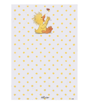 "Little Suzy's Zoo Baby Witzy Duck & Ladybug Memo Note Pad 4.5"" x 6 5/8"""