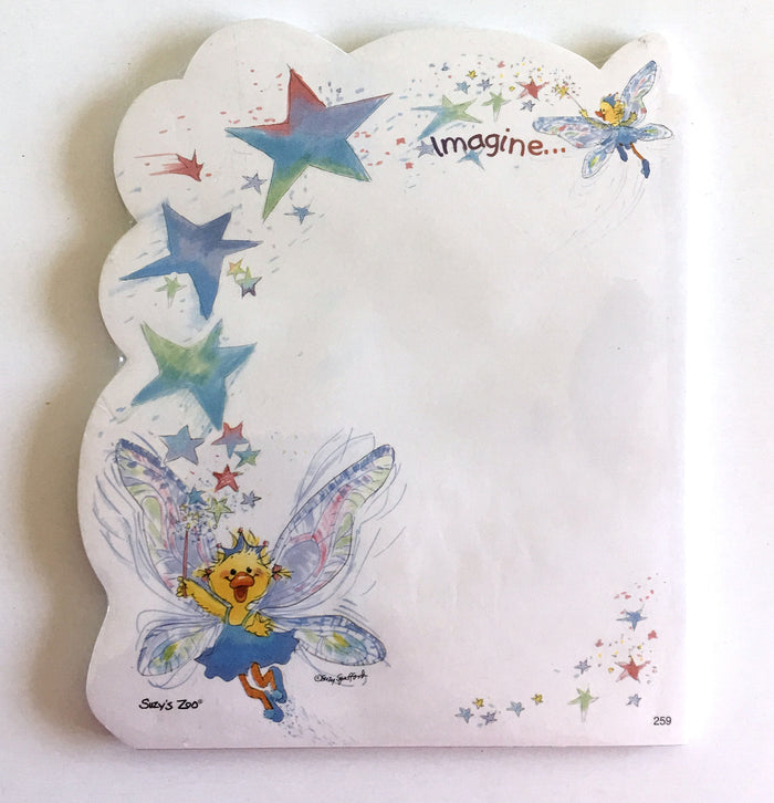 "Suzy's Zoo Polly Fairy Die Cut Memo Note Pad 5 3/8"" x 6.5"""