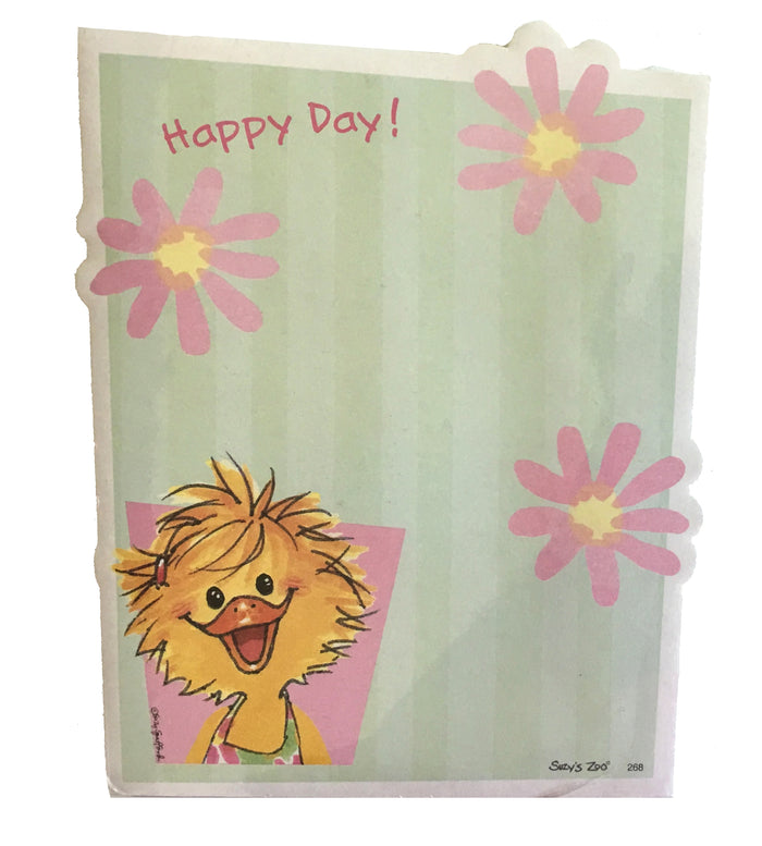 "Suzy's Zoo Sally's Happy Day Die Cut Memo Note Pad 5"" x 6.5"""